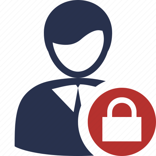 account, business, client, lock, office, user icon