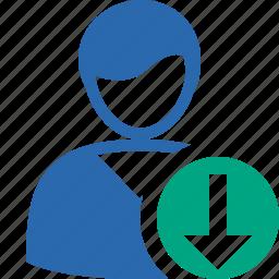account, client, download, male, profile, user icon