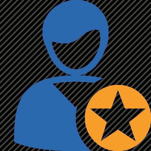 account, client, male, profile, star, user icon