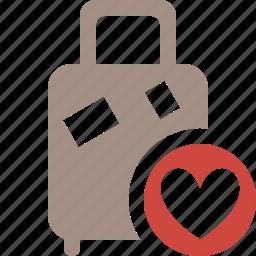 bag, baggage, favorites, luggage, suitcase, travel, vacation icon