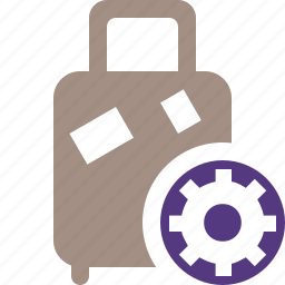 bag, baggage, luggage, settings, suitcase, travel, vacation icon