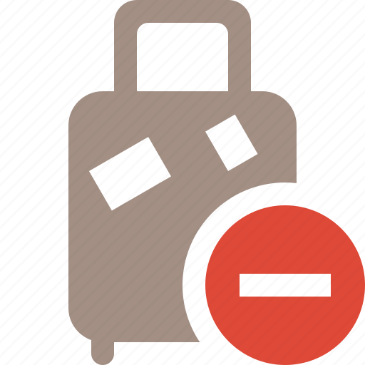 bag, baggage, luggage, stop, suitcase, travel, vacation icon