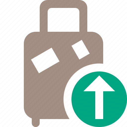bag, baggage, luggage, suitcase, travel, upload, vacation icon