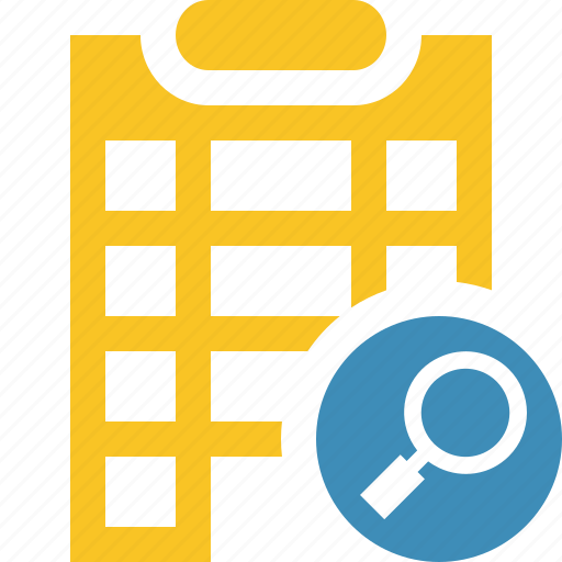 building, city, hotel, office, search, travel, vacation icon
