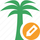 edit, palmtree, travel, tree, tropical, vacation icon