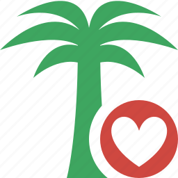 favorites, palmtree, travel, tree, tropical, vacation icon