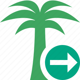 next, palmtree, travel, tree, tropical, vacation icon