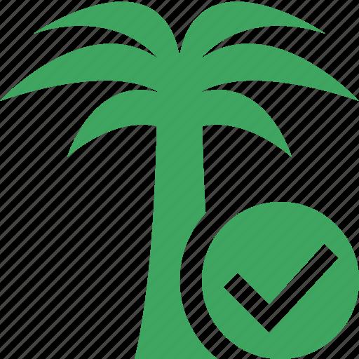 ok, palmtree, travel, tree, tropical, vacation icon