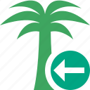 palmtree, previous, travel, tree, tropical, vacation icon