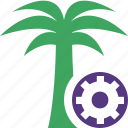palmtree, settings, travel, tree, tropical, vacation icon