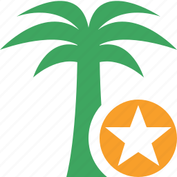 palmtree, star, travel, tree, tropical, vacation icon