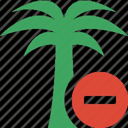 palmtree, stop, travel, tree, tropical, vacation icon