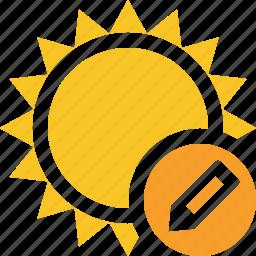 edit, summer, sun, sunny, travel, vacation, weather icon