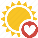 favorites, summer, sun, sunny, travel, vacation, weather icon