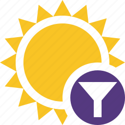 filter, summer, sun, sunny, travel, vacation, weather icon