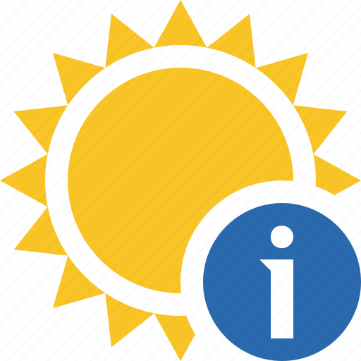 information, summer, sun, sunny, travel, vacation, weather icon