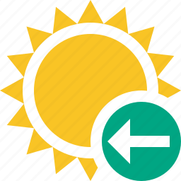 previous, summer, sun, sunny, travel, vacation, weather icon