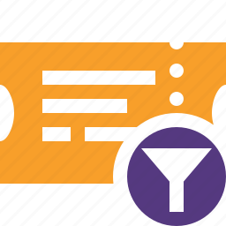 filter, movie, ticket, transport, travel, vacation icon