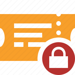 lock, movie, ticket, transport, travel, vacation icon