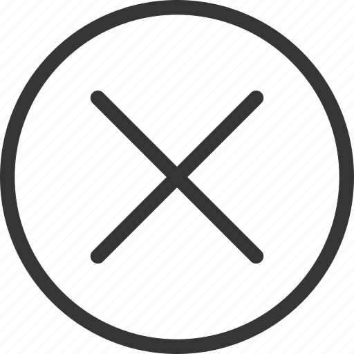 Cancel, circle, cross, no, round icon - Download on Iconfinder