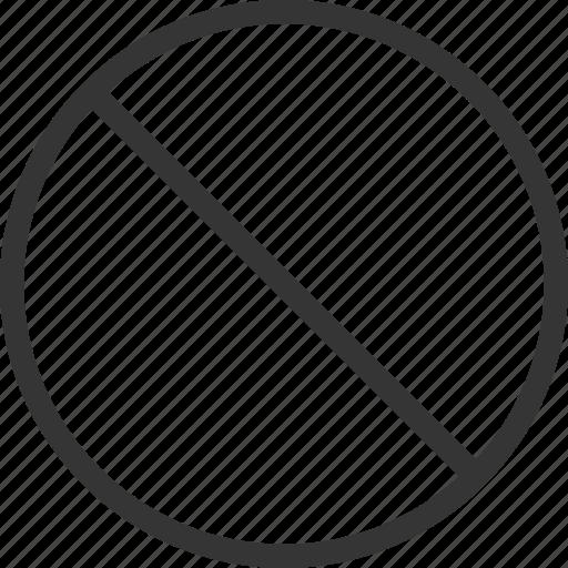 Circle, cross, forbidden, no, round icon - Download on Iconfinder