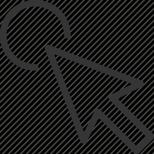arrow, browser, click, cursor, website icon