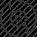 arrow, cog, down, gear, settings, up, wheel