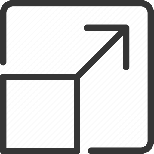 arrow, down, left, resize, right, scale, up icon