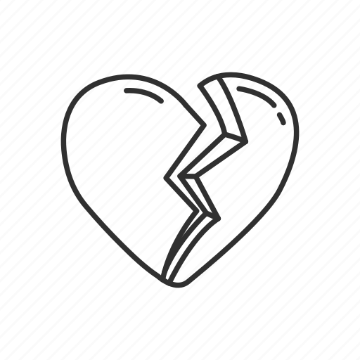 broken, broken heart, emoji, heart, heartbreak, love, valentines icon