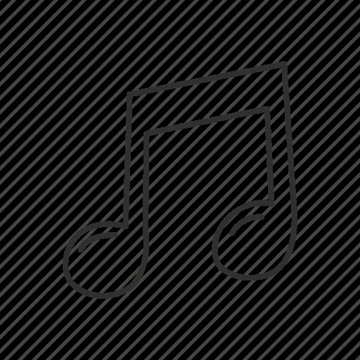 emoji, music, musical note, note, note symbol, sign, sound icon