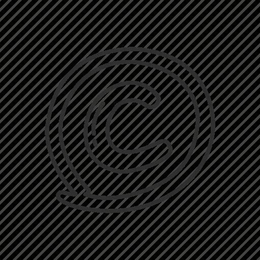 business, circled letter c, copyright, copyright sign, copyright symbol, emoji icon