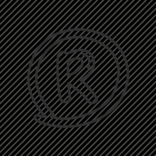 business, circled letter r, emoji, registered, registered sign, registered symbol icon