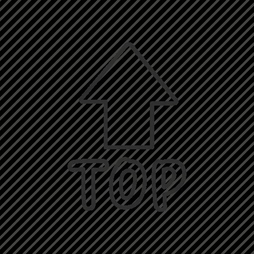 arrow, arrow up, emoji, top, top with arrow above, up, upwards icon