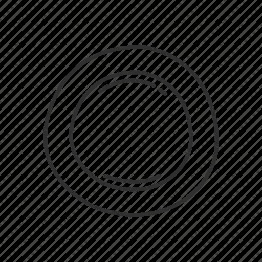 circle, circle button, emoji, round, round button, shape, zero icon
