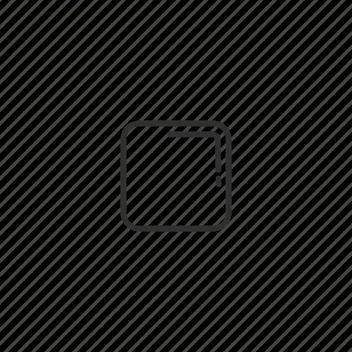 box, cube, emoji, geometry, shape, small square, square icon