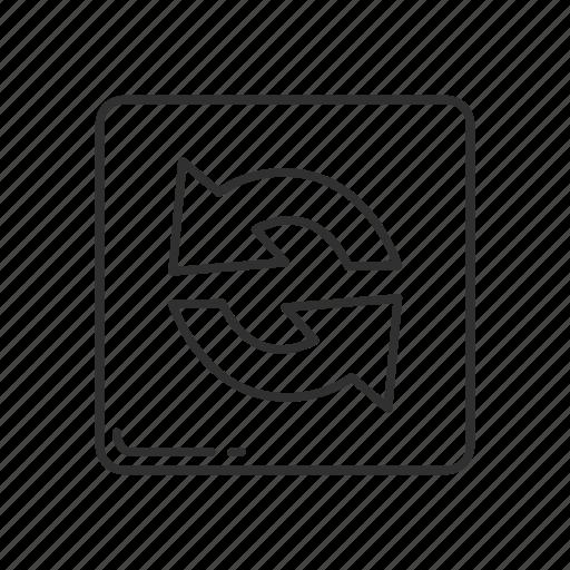 arrow, arrow rotate, emoji, refresh, reload, squared rotating arrow icon