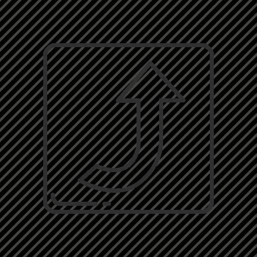 arrow, arrow curving upwards, arrow pointing up, arrow up, direction, emoji, upwards icon