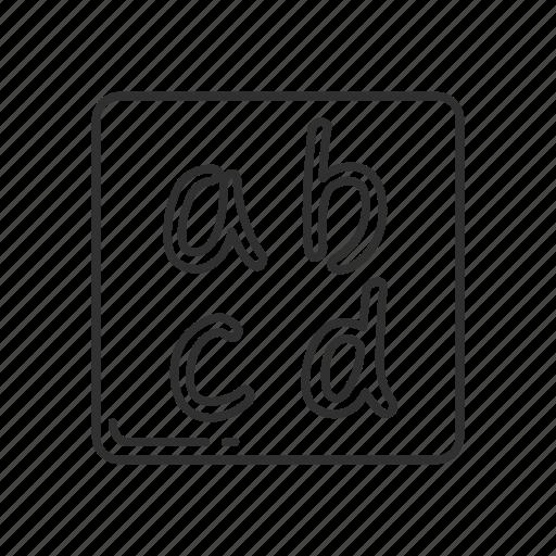 alphabet, alphabets, emoji, latin small letters, letters, small letters, squared alphabet icon