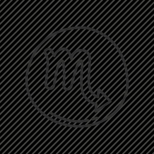 emoji, scorpius, scorpius symbol, sign, squared scorpius, zodiac, zodiac sign icon