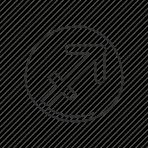 emoji, sagittarius, sagittarius symbol, sign, squared sagittarius, zodiac, zodiac sign icon