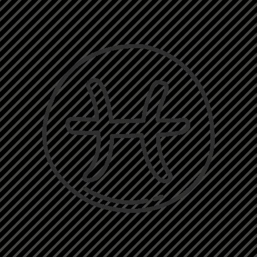 Emoji Pisces Symbol Sign Squared Zodiac Icon