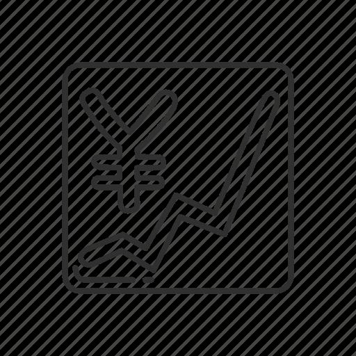 emoji, squared yen and upward symbol, upward trend, upward yen sign, yen sign, yen symbol icon