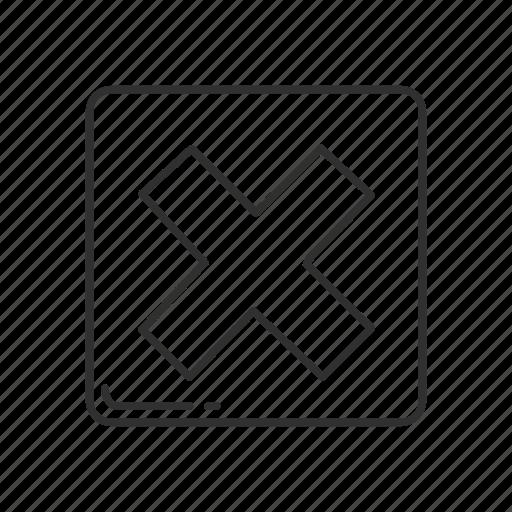 cross mark, emoji, squared cross mark, squared x mark, x, x mark, x mark symbol icon