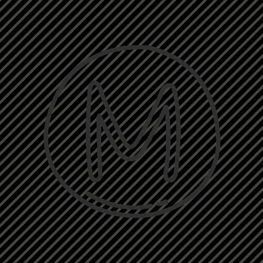 Circled Letter M Emoji Latin Capital Symbol Icon