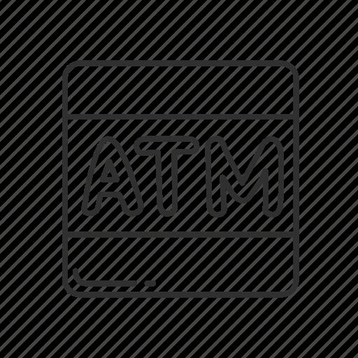 atm, atm symbol, automated teller machine, bank, emoji, squared atm icon