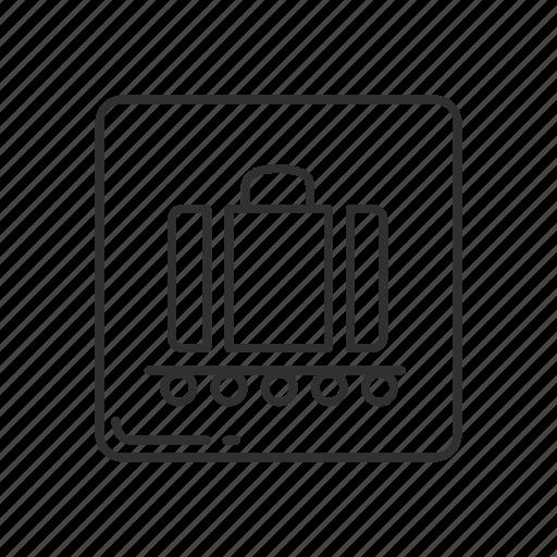 baggage, baggage claim, baggage symbol, emoji, luggage claim, luggage symbol icon