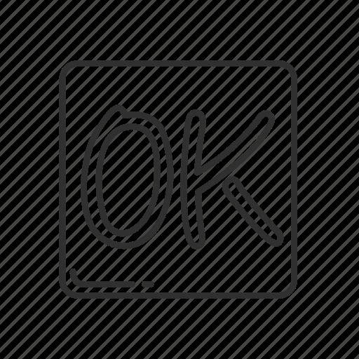 emoji, good, ok, ok sign, squared, squared ok, yes icon