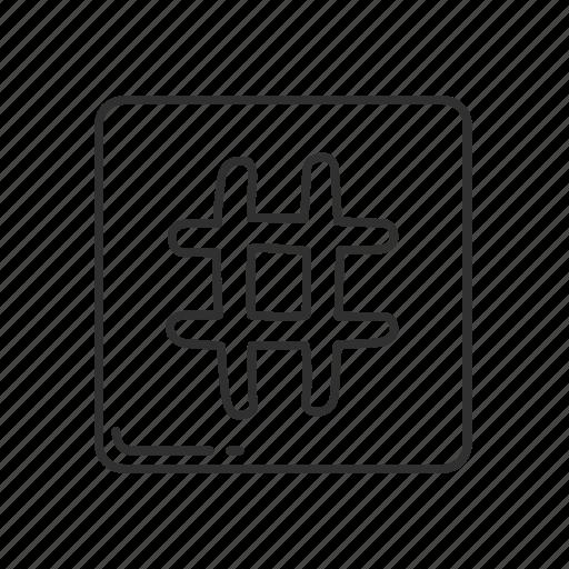 emoji, hashtag, keycap, keycap number sign, number, number sign, sign icon