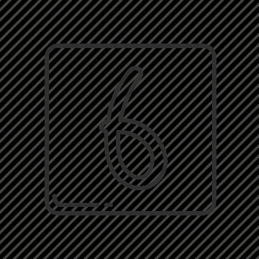 emoji, keycap, keycap six, number, number 6, number six, six icon