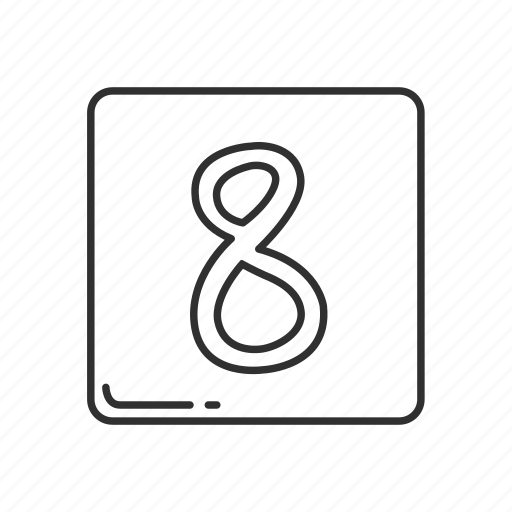 eight, emoji, keycap 8, number, number 8, number eight, number sign icon